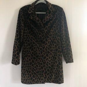 Express Ladies Leopard Faux Fur Jacket